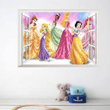 stickers chambre fille princesse bande dessinée princesse reine stickers muraux pour enfants chambre