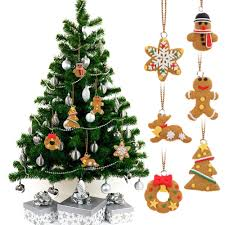Where To Buy Christmas Tree Ornaments 6pcs Lot Deer Snowman Pendant Chrismas Tree Christmas Gift Santa
