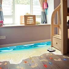 compare prices on beach bedroom decor online shopping buy low creative 3d wall stickers diy 3d beach floor wall sticker bedroom decorations wall stickers home decor