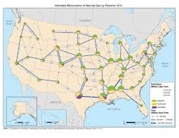 Interstate Map Of United States by Interstate Movements Of Natural Gas By Pipeline 2011 Fhwa