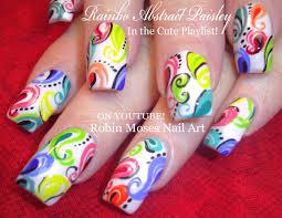 robin moses nail art rainbow paisley nails
