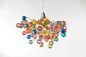 Etsy Chandelier Lighting Hanging Chandeliers With Pastel Bubbles For