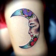 depiction gallery tattoos feminine moon