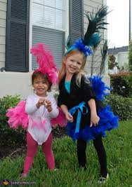 Peacock Halloween Costume Girls Peacock Flamingo Homemade Halloween Costumes Girls