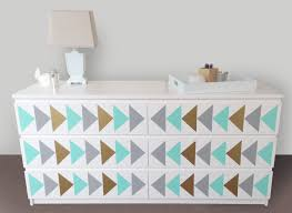Malm Ikea Nightstand Triangle Nursery Design Decals Dresser Decals Fit Any Malm Ikea