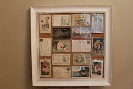diy vintage postcard display thanks grandma andrea slaydon