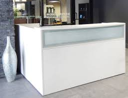 Reception Desk With Glass Display Office Desk Office Cabinets Glass Desk Reception Desk