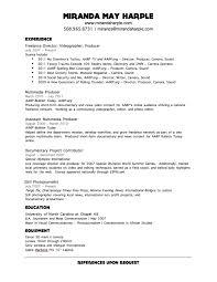 Apple Resume Example by Videographer Resume Sample Haadyaooverbayresort Com