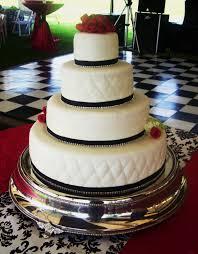 White Black Wedding Cake With Rhinestone Border Beth Ann U0027s