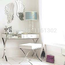 Mirrored Glass Vanity Vanities Bedroom Vanity Table With Trifold Mirror Stylish