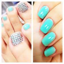 tiffany blue gel and blinged out toes yelp