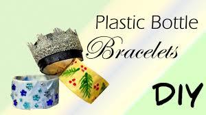 diy plastic bottle bracelets cheap christmas party jewelry