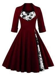 semi formal dress flower semi formal dress in wine 2xl sammydress