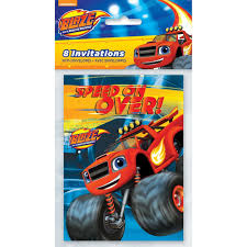 monster truck invitation amazon com blaze and the monster machines party invitations 8ct
