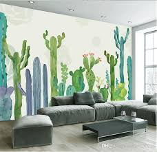 living room mural large 3d cacti wall murals photo wallpaper for living room cactus
