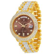 day date 18k solid gold mens 33 50 ctw