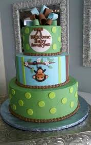 monkey theme cakes for baby showers monkey themed baby shower