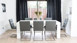 Grey Dining Table Chairs Modern White Dining Table Dining Room Gregorsnell Modern White