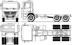 drawn truck mercedes truck pencil and in color drawn truck