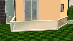 mod the sims modern fence in white