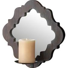 Mirror Sconce Mirrored Candle Wall Sconce Wayfair