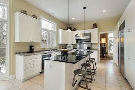 simple house kitchen with clean white cabinets and neutral wall
