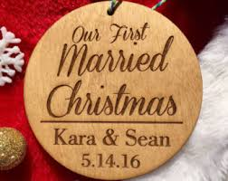 our first christmas as mr and mrs ornament personalized