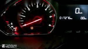 tire pressure warning light tyre pressure warning light reset tpms peugeot 208 2013 2017 youtube