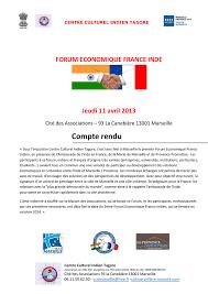 chambre de commerce franco indienne compte rendu du forum business inde marseille