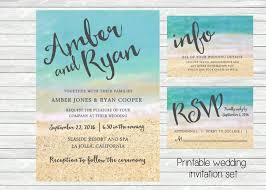 beachy wedding invitations wedding invitation and sand in the background