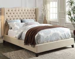 Eastern King Bed Faye Eastern King Linen Bed By Acme Furniture Home Gallery Stores