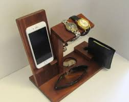 Desk Valet Charging Station Docking Valet Docking Station Men Docking Station Wood