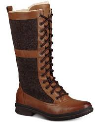 womens ugg boots with laces ugg s elvia lace up boots boots shoes macy s