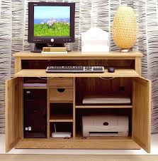 dark brown computer desk brown computer desk solid oak office furniture hideaway computer