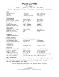 Resume Template For Actors by Professional Acting Resume Template Theatre Resume Template Word