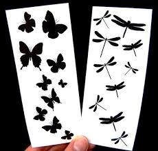 dragonfly butterfly black temporary tattoos premium temporary