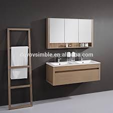 Real Wood Vanities Modern Wall Mounted Bathroom Cabinet Solid Wood Vanity Oak
