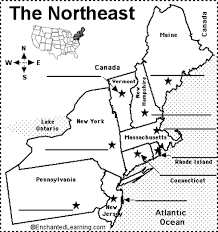 map of northeast us states with capitals northeastern us state capitals to label us states notebook