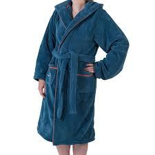 robe de chambre ado freestyle bleu carre blanc
