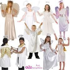 kids angel boys girls nativity play christmas fancy dress costume
