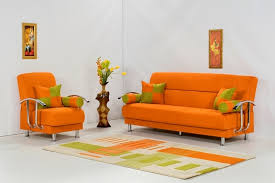 Living Room With Orange Sofa Decorating Ideas Using Orange Sofa In Living Room Freshnist