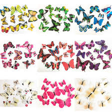 Home Decor Ebay 12pcs 3d Butterfly Sticker Wall Stickers Decals Room