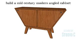 an easy to build mid century style cabinet u2013 designs by studio c