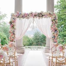 wedding backdrop linen gorgeous pipe and drape backdrop to a half moon sweetheart table