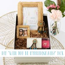 bridesmaid boxes diy will you be my bridesmaid gift box printable