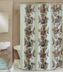White Shower Curtains Fabric Amazon Com Peri Shower Curtain Fabric Calliope Blue Brown Grey