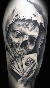 76 skull tattoos designs card tattoos card
