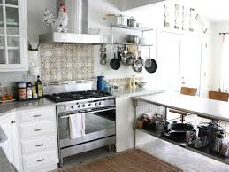 White Kitchens With Islands by Wooden Island With Stainless Steel Countertop White Cabinets And