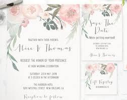 Printable Wedding Invitations Wedding Stationery Printable Art Invitations By Thespringrabbit
