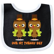 1st thanksgiving turkey baby bib black and white 10 99 www